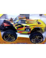 RC Monstertruck, Truck, Offroad Pick-up, 2WD 1:10, ca. 44cm, gelb