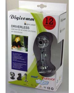 Digicomm Webcam m. Mikrophone 12 Megapixel