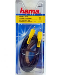 Hama Video Kabel Cinch-Stecker, Cinch-Stecker 2,0 m RCA Cable 043141